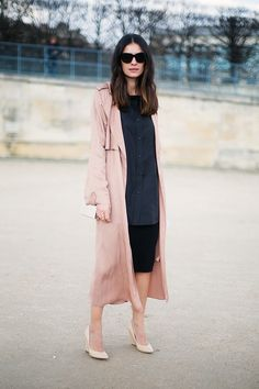 #STYLE #FASHION #POP #COLOUR #PALE PINK #DUSTER COAT #CHIC #ORDEROFSTYLE