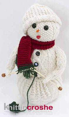 снеговик спицами схемы описание