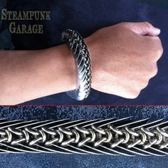 This is a Steampunk Garage ORIGINAL design. Weve had this bracelet described as architecturally intriguing and its easy to see why! This unique