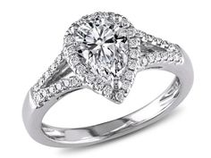 Pear Shaped Engagement Rings With Halo