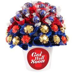 Get Well Medium Dark Chocolate Bouquet Birthday Chocolates, Birthday Candy, Happy Birthday, Chocolate Hampers, Chocolate Gifts, Happy Fathers Day, Happy Mothers, Get Well Gifts, Chocolate Hearts