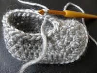 *** KIDSDOLLS ***: Patterns * step by step slippers explanation ! Crochet Fruit, Diy Crochet, Crochet Wool, Baby Patterns, Doll Patterns, Crochet Patterns, Baby Clothes Online, Cute Baby Clothes, Crochet Baby Booties