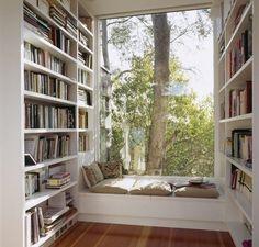... um bom lugar pra ler um livro.