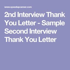Interview thank you letter pinterest interview process expocarfo Image collections