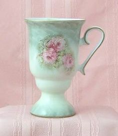 Royal Patrician Bone China Victorian Tankards Lidded Floral Mugs Porcelain Victorian Tankards