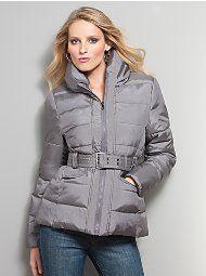try belting a vest or coat