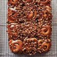Grandma Douglas's Schnecken, or pecan-cinnamon buns covered with pecan caramel, sound amazing for Christmas morning. #recipe #christmasmorning #breakfast