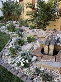 Rock Garden Ideas for Backyard . Rock Garden Ideas for Backyard . 50 Amazing Modern Rock Garden Ideas for Backyard Rock Garden Design, Small Garden Design, Landscaping With Rocks, Front Yard Landscaping, Landscaping Ideas, River Rock Landscaping, Landscaping Edging, Paving Ideas, Luxury Landscaping