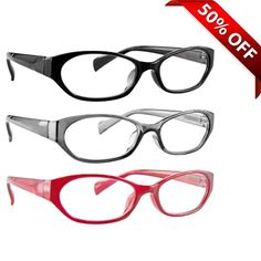 14e2bca301ef Reading Glasses 3 Pack with Red