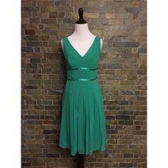 Beautiful green Grecian style, great for a wedding Knee length dress back zipper. Blue green. Anne Klein Dresses Midi