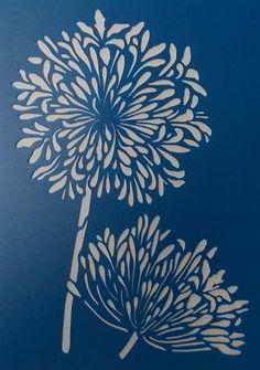 Agapantha Stencil(Etsy のkraftkutzより) https://www.etsy.com/jp/listing/255949157/agapantha-stencil