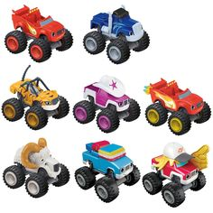 Meet the Nickelodeon Blaze and the Monster Machines Diecast Vehicles! These collectible die-cast monster trucks feature big wheels and even bigger personalities! Freewheeling vehicles for fast rolling speed - perfect for recreating the races and spectacular stunts as seen on Blaze's show! Collect all your favourite friends from Axle City (Each sold separately and subject to availability).