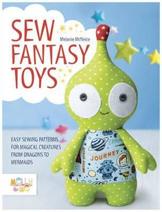 This is a gorgeous new collection of magical creatures from soft toy designer Melly McNeice.  Friendly monsters, pretty mermaids and mystical unicorns make up part of this brand new toy sewing pattern collection from Melly