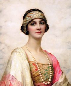 An Elegant Beauty    William Clarke Wontner (1857-1930) English Artist