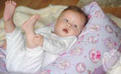 Stillkissen ♥ Miezi ♥ Lagerungskissen von Mini Monsterz® - Kindersachen die Spaß machen! auf DaWanda.com