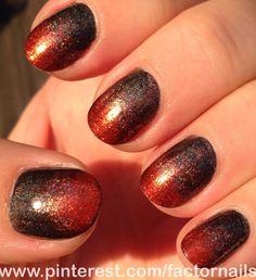 Subtle halloween gradient -color club revvvolution -color club cosmic fate - china glaze riveting