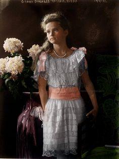 Grand Duchess Tatiana Nikolaevna Romanova of Russia (1897-1918), second child and daughter of the last Russian Tsar Nicholas II.