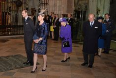 Queen Elizabeth II and Prince Philip, Duke of Edinburgh, Sophie, Countess of Wessex and Prince Edward, Earl of Wessex attend a Service of Thanksgiving to celebrate 60 years of The Duke of Edinburgh's Award at Westminster Abbey on November 24, 2016 in London, England. Countess Sophie wore Bruce Oldfield jacket & Dress