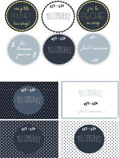 Printable Labels, Printables, Etiquette Vintage, Chalkboard, Stickers, Blog, Scrap, Diy, Tampons