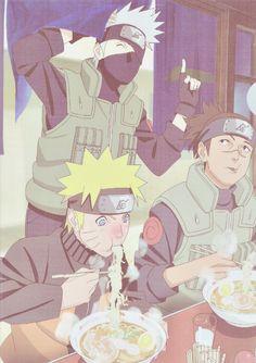 Kakashi, Iruka and Naruto