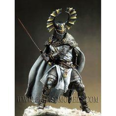Teutonic Knight, XIV cen. - Art Girona White Metal Figures