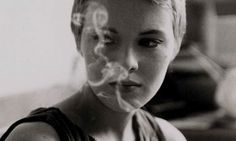 "Brooding - when the weight of the world is condensed in your mind and shot through the eyes.     Jean Seberg, in ""Breathless""."