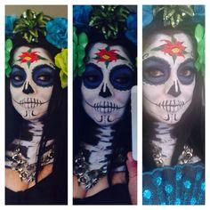 My blue/green CATRINAS (sugar skull) dia d muertos
