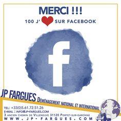 100 j'aime sur Facebook ! Un grand #merci ! JP Fargues (@jpfargues)   Twitter #transport #demenagement #national #international