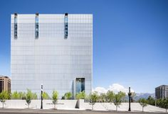 GSA Region 8's U.S. Courthouse Annex in Salt Lake City, UT. The building is connected by a tunnel to the Frank E. Moss Courthouse, which is situated adjacent to and directly east of the new building. The facility surrounded by a garden of grass, trees and other landscaped elements and houses seven district and three magistrate courtrooms, along with 14 chambers and office-support spaces on 10 floors above grade. LEED Gold 2015.