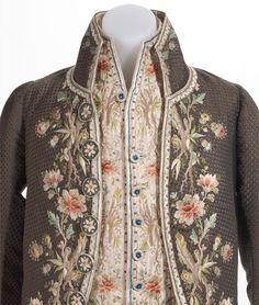 18th century man's coat and waistcoat