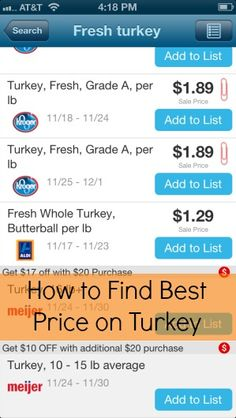 How to Find the Best Price on your Thanksgiving Turkey #favadoapp