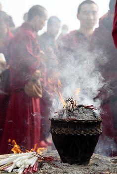 Incredible India - Google+ - Prayer ceremony at Rajgir #IncredibleIndia  #People