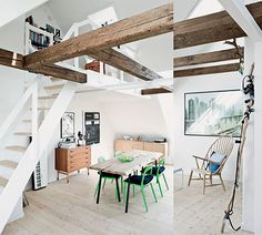 loft / reclaimed wooden beams