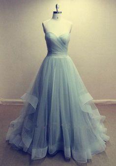 Charming Prom Dress,Tulle Prom Dress,Strapless Prom Dress,A-Line Prom Dress,Long Prom Dress,Brief Prom Dress