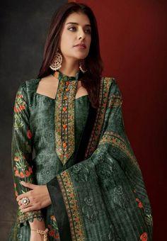 Tamishk Fashion Z Silk Pure Silk With Digital Print and Diamond Work Suit 7808 Salwar Neck Designs, Kurta Neck Design, Neck Designs For Suits, Sleeves Designs For Dresses, Neckline Designs, Kurta Designs Women, Blouse Neck Designs, Neck Design For Kurtis, Stylish Dresses For Girls