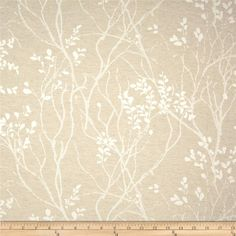 KasLen Sheraton Tree Jacquard Natural from @fabricdotcom  This medium weight jacquard fabric is perfect for window treatments, accent pillows and light upholstery. Colors include white and beige.