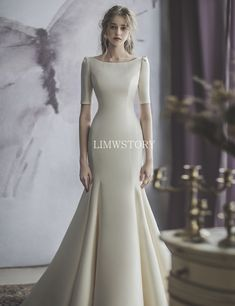 Classy Wedding Dress, Stunning Wedding Dresses, Wedding Dress Sleeves, Modest Wedding Dresses, Classy Dress, Bridal Dresses, Beautiful Dresses, Wedding Gowns, Prom Dresses
