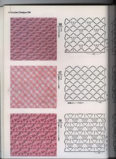 Trendy Crochet Paso A Paso Puntadas Ideas Crochet Stitches Chart, Crochet Motifs, Crochet Diagram, Crochet Diy, Crochet Wool, Stitch Patterns, Knitting Patterns, Crochet Patterns, Crochet Patron