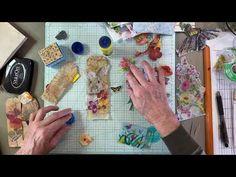 Flower Doodles, Doodle Flowers, Diy Paper, Paper Crafts, Homemade Journal, Used Tea Bags, Tea Bag Art, Fabric Cards, Altered Art