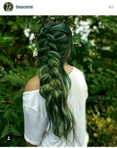 Beautiful green hair
