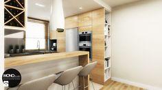 przestrzeń & faktura - Mała otwarta kuchnia w kształcie litery g w aneksie - zdjęcie od MONOstudio