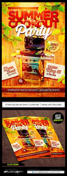 Free Bbq Party Flyer Template  HttpFreepsdflyerComFreeBbq