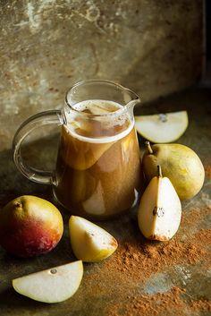 Bourbon Spiced Pear Cider | Heather Christo
