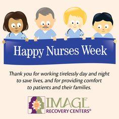 "It's National Nurses Week: ""Nurses: Inspire, Innovate, Influence! Image Recovery, National Nurses Week, Happy Nurses Week, Save Life, Cancer Treatment, Peace Of Mind, Happy Holidays, Innovation, Healing"