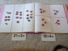 When learning division - the 'hands on' approach can really support a child's learning