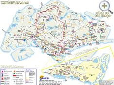 MRT map with tourist attractions Singapore top tourist attractions map
