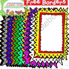 12 Free Borders for Personal and Commercial Use from Hugs from Hernan on… Art Bulletin Boards, Free Notebook, Doodle Frames, Classroom Decor, Classroom Freebies, Classroom Organization, School Clipart, Cool Fonts, Fun Fonts