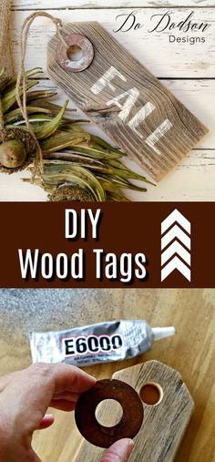 Easy DIY Wood Tags