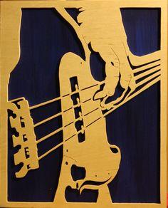 Music Drawings, Art Drawings, Jazz Painting, Illustration Art, Illustrations, Vinyl Music, Guitar Art, Scroll Saw Patterns, Silhouette Art