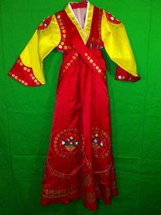 Korean Traditional HANBOK 2 Piece Red Costume Ethnic Dress Handmade | eBay Halloween Costumes For Sale, Red Costume, Ethnic Dress, Korean Traditional, Dance Wear, Kimono Top, Sari, How To Wear, Handmade